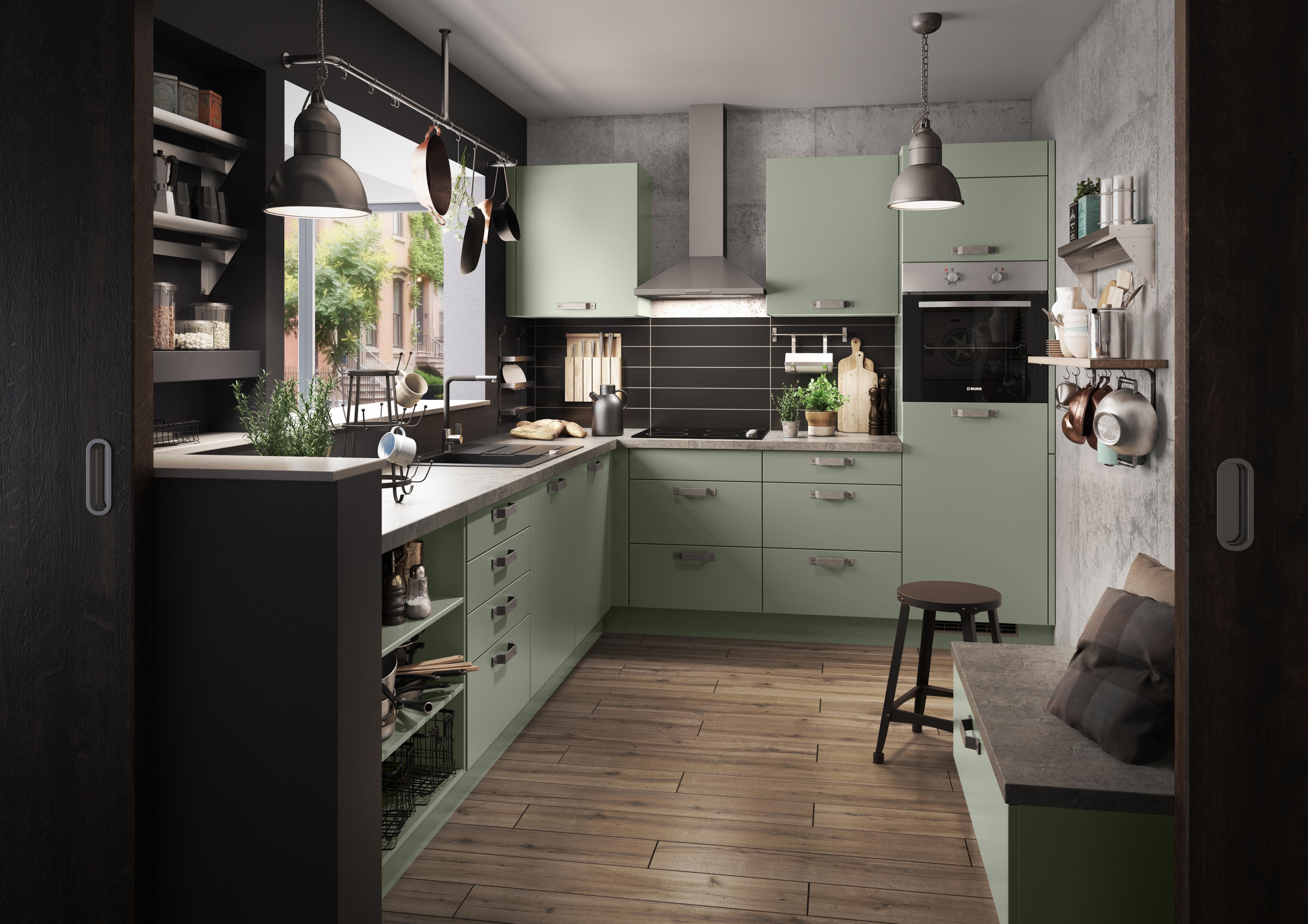 Retro Kühlschrank Dunkelgrün : Grüne küchen küchentrends in grün küche&co