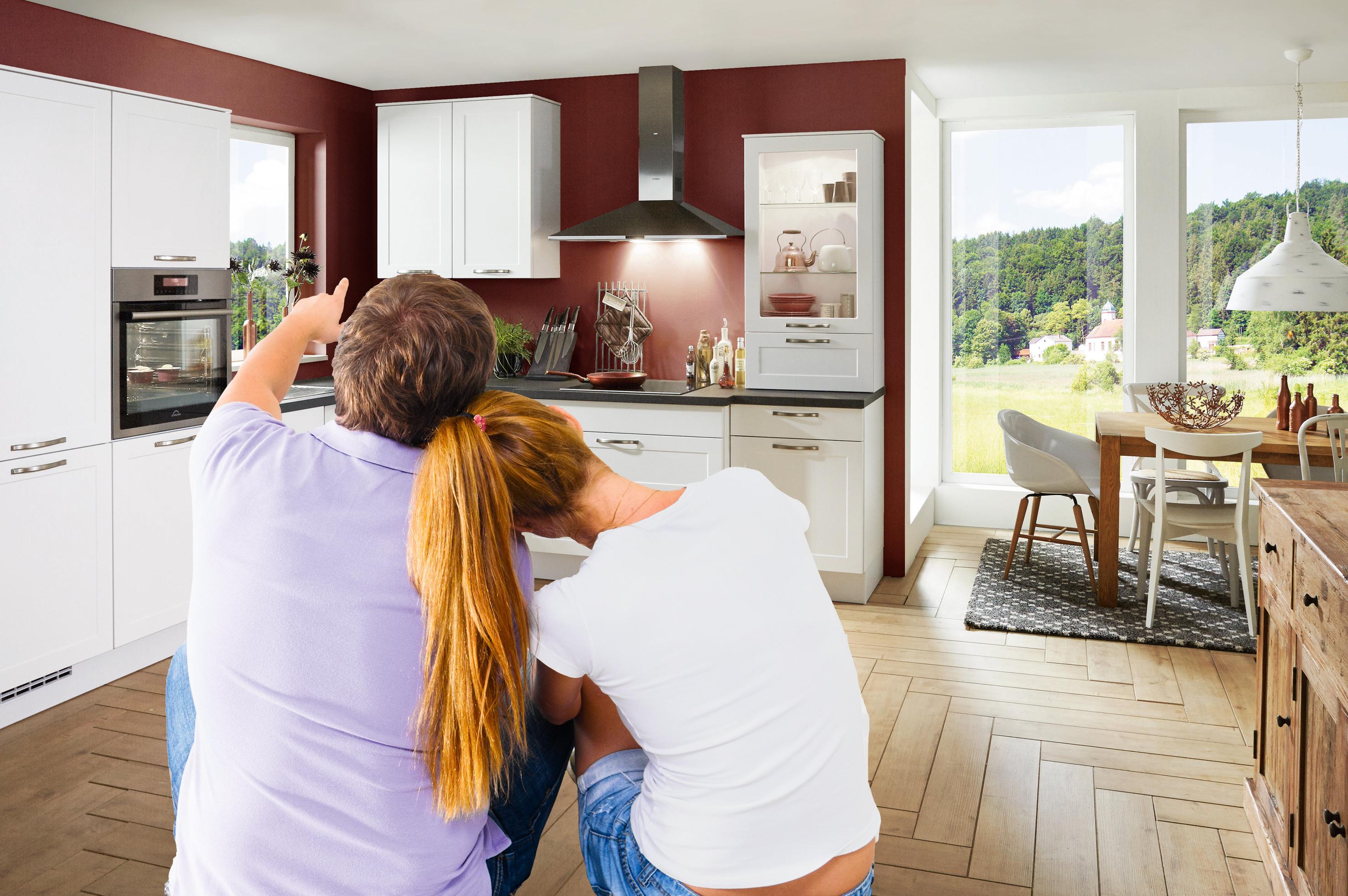 Kleine Küche Hell Gestalten. Unterschrank Küche Möbel Boss ...
