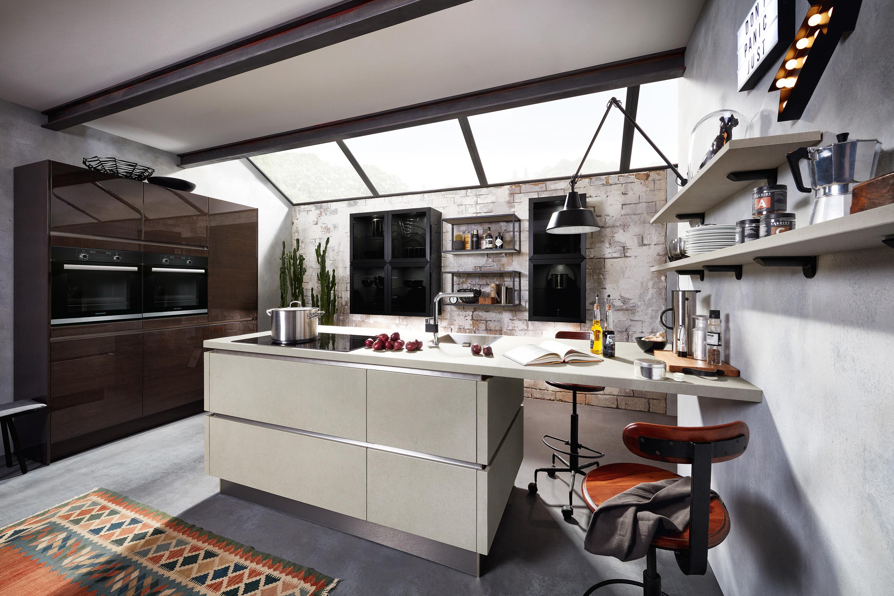 marmor kuche mit beton wand minimalistisch design, küchentrends 2018 - kreative designideen für die küche - küche&co, Design ideen