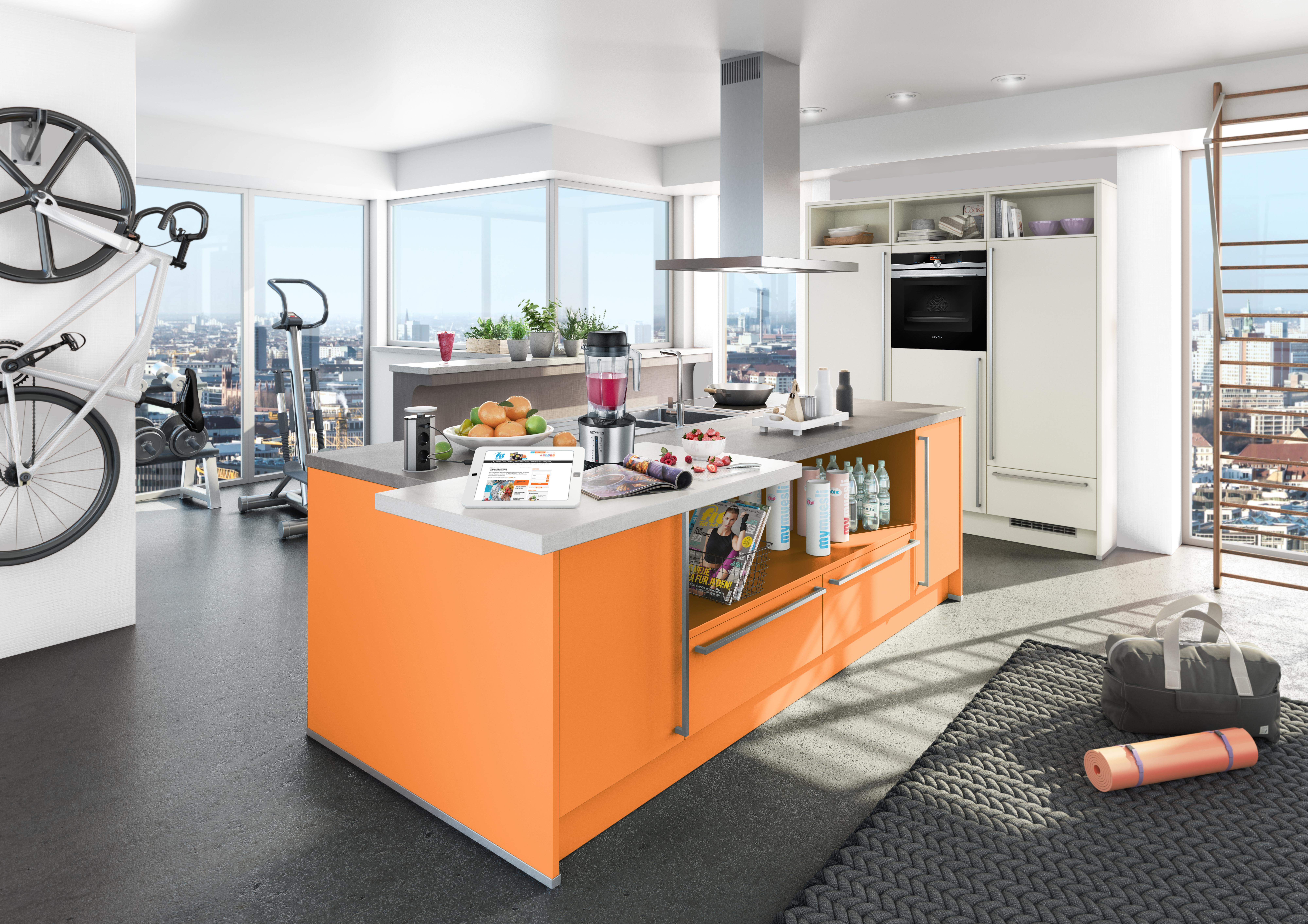 Orangefarbene Küchen - Küchentrends in Orange - Küche&Co