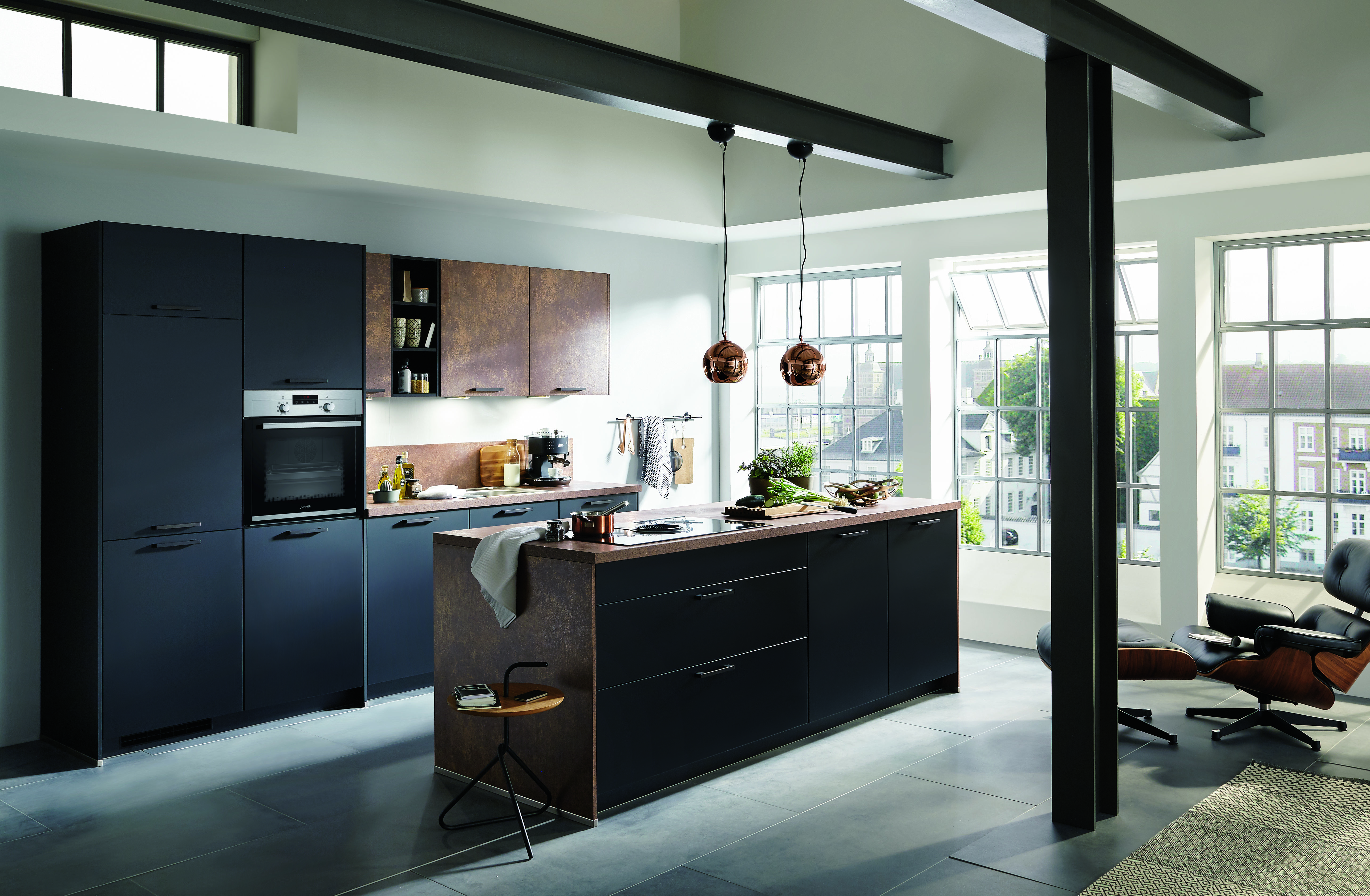 schwarze k chen k chentrends in schwarz k che co. Black Bedroom Furniture Sets. Home Design Ideas