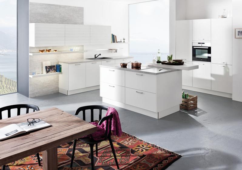 wandfarben ideen in sand kombinationen, weiße küchen - küchentrends in weiß - küche&co, Design ideen