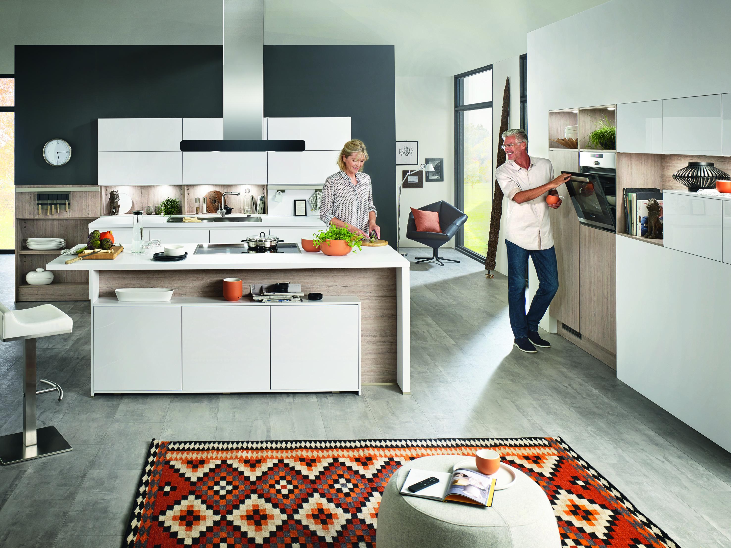 Offene Küchen: die modernen Wohnküchen von Küche&Co - Küche&Co
