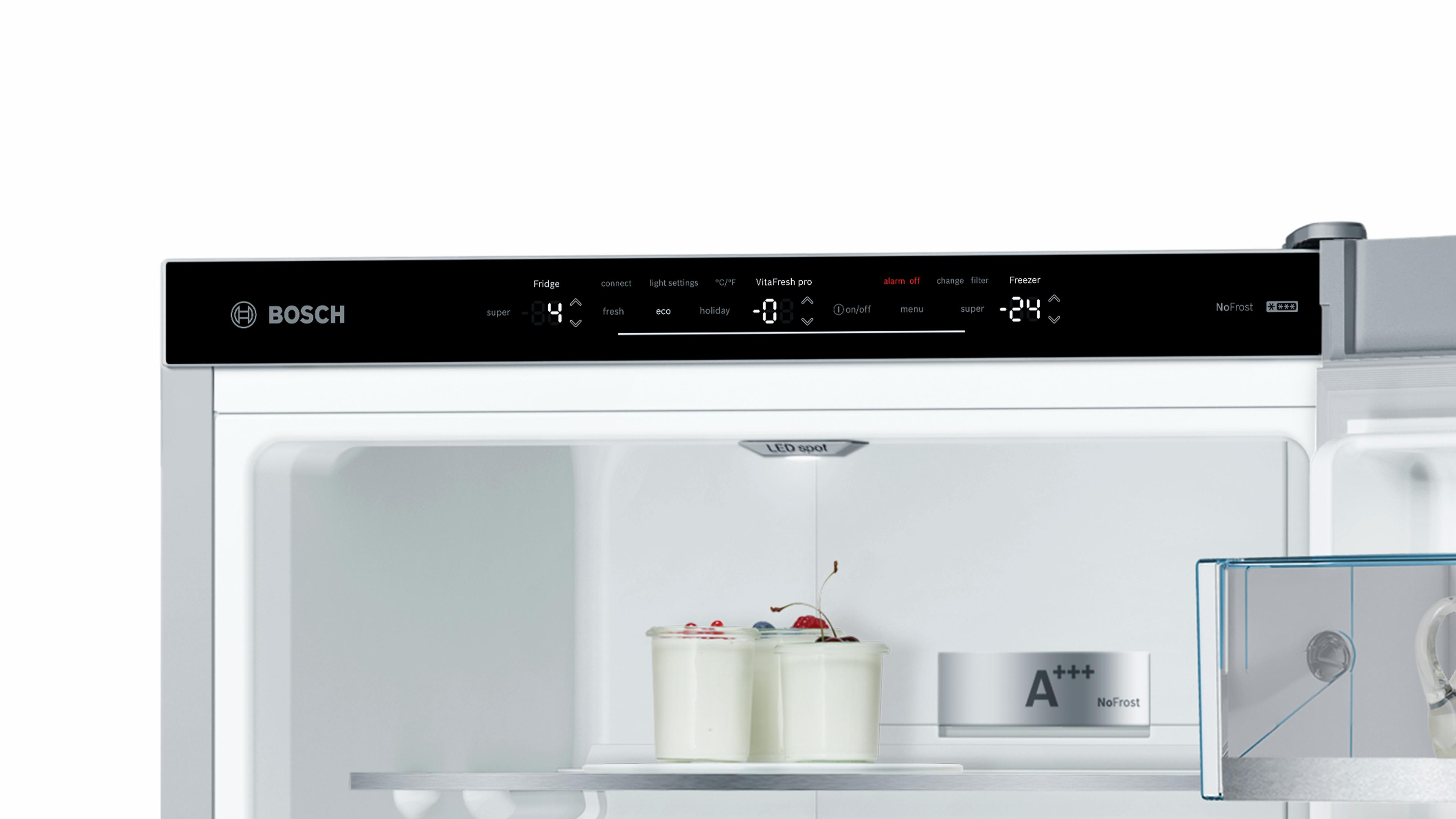 Bosch Kühlschrank Vitafresh Bedienungsanleitung : Kühl gefrier kombination bosch kgf sm küche co