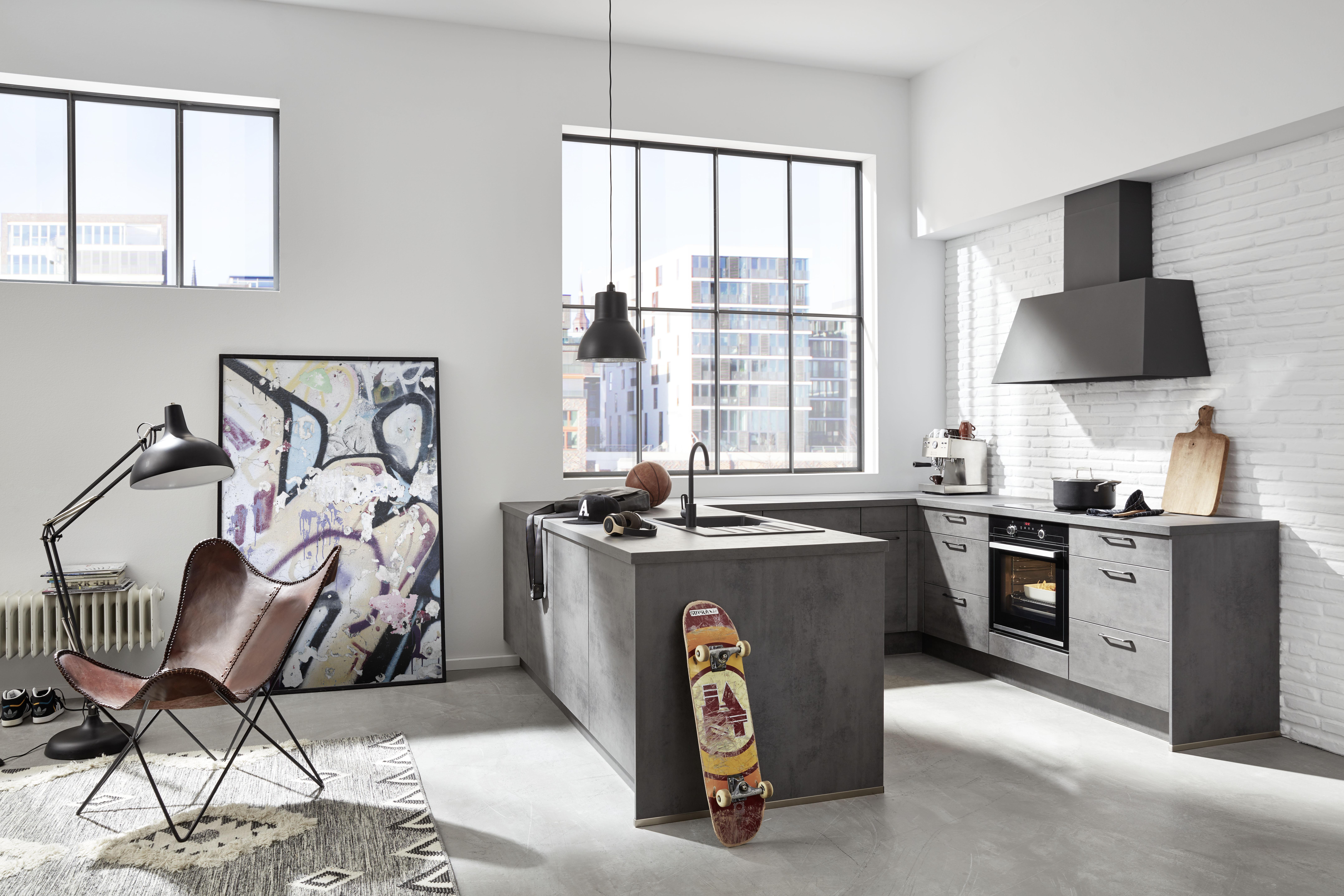 Küchen ohne Oberschränke - Küche&Co