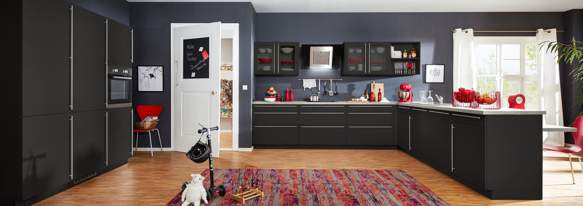 moderne k che in carbon seidenmatt k che co. Black Bedroom Furniture Sets. Home Design Ideas
